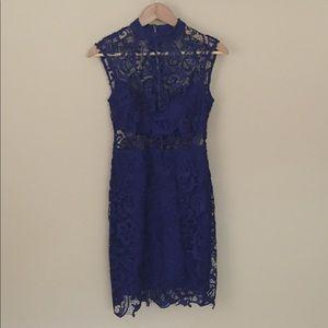 NWOT B. DARLIN Royal Blue Lace Dress Size 3/4